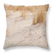 Dry Dune Grass Plants Throw Pillow