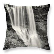 Dry Falls - Blue Ridge Mountains - Number Two Throw Pillow