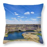 Dry Falls Overlook Throw Pillow