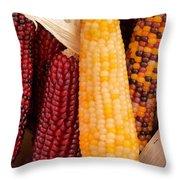 Dry Indian Corn Throw Pillow