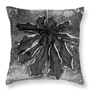 Dry Leaf Collection Bnw 1 Throw Pillow