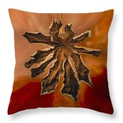 Dry Leaf Collection Digital 1 Throw Pillow