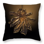 Dry Leaf Collection Digital  Throw Pillow