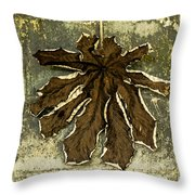Dry Leaf Collection Natural Throw Pillow