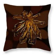 Dry Leaf Collection Psychedelic Throw Pillow