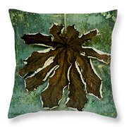 Dry Leaf Collection Wall Throw Pillow