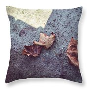 Dry Leaves Throw Pillow