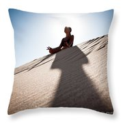 Dry Meditation Throw Pillow