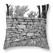 Dry Stone Wall Throw Pillow