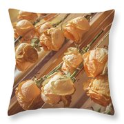 Drying Roses Throw Pillow