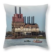 Dte Power Plant  Throw Pillow
