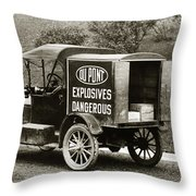 Du Pont Co. Explosives Truck Pennsylvania Coal Fields 1916 Throw Pillow