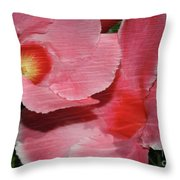Dual Beauty In Pink Throw Pillow