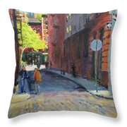 Duane Park From Staple Street Throw Pillow