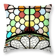 Dublin Art Deco Stained Glass Throw Pillow