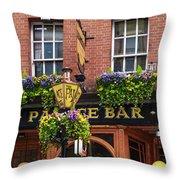 Dublin Ireland - Palace Bar Throw Pillow