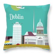 Dublin Ireland Vertical Scene Throw Pillow