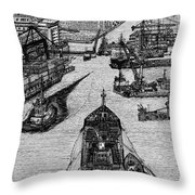 Dublin Port  Throw Pillow