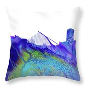 Dublin Skyline Throw Pillow