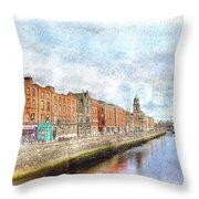 Dublin Watercolour Throw Pillow