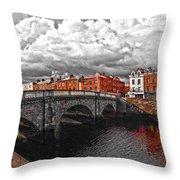 Dublin's Fairytales Around Grattan Bridge 2 V3 Throw Pillow