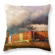 Dublin's Fairytales Around  River Liffey 2 Throw Pillow