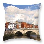 Dublin's Fairytales Around  River Liffey 3 Throw Pillow