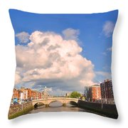 Dublin's Fairytales Around  River Liffey Throw Pillow
