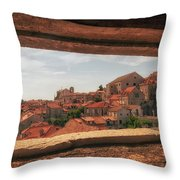 Dubrovnik City In Southern Croatia Throw Pillow