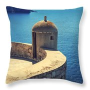 Dubrovnik Fortress Wall Tower Throw Pillow