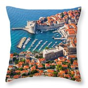 Dubrovnik From Above Throw Pillow