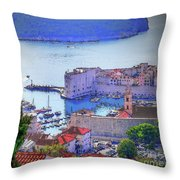 Dubrovnik Throw Pillow
