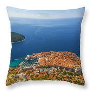 Dubrovnik Old Town From Above Throw Pillow