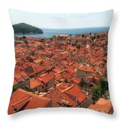 Dubrovnik Old Town Throw Pillow