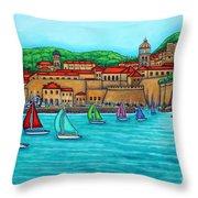 Dubrovnik Regatta Throw Pillow