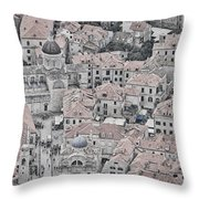 Dubrovnik Rooftops #2 Throw Pillow