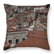 Dubrovnik Rooftops #3 Throw Pillow