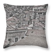 Dubrovnik Rooftops #5 Throw Pillow