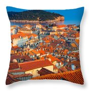 Dubrovnik Rooftops Throw Pillow