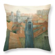 Dubrovnik Rooftops Throw Pillow