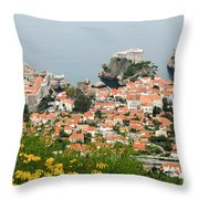 Dubrovnik, The Walled Old City Throw Pillow