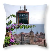 Dubrovniks Cable Car Throw Pillow