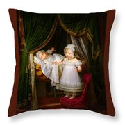 Duc De Bordeaux In His Cradle  Throw Pillow