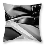 Ducati 1098 Motorcycle -0893bw Throw Pillow