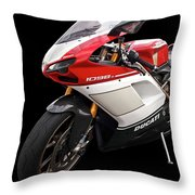 Ducati 1098s Motorcycle Throw Pillow