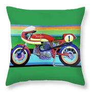 Ducati 750 Ss Corsa Throw Pillow