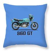 Ducati 860 Gt 1975 Throw Pillow
