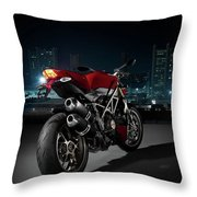 Ducati By Moonlight Throw Pillow