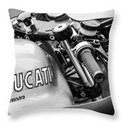 Ducati Desmo Motorcycle -2127bw Throw Pillow