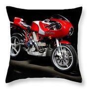 Ducati Mhe Mike Hailwood Evoluzione Throw Pillow